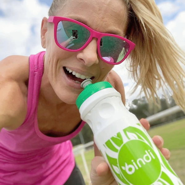 athlete with drink bottle