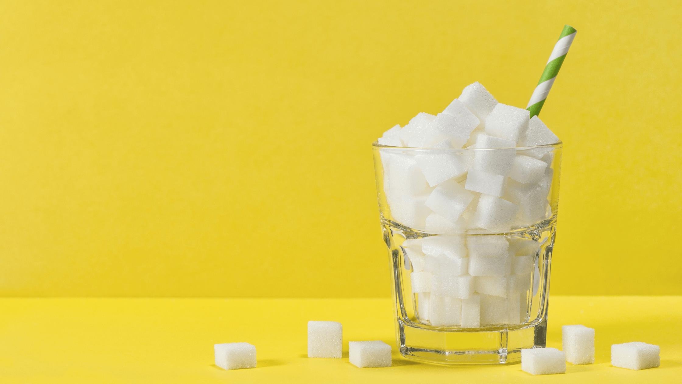 sugar in glass