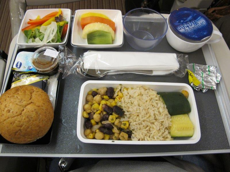 vegan plane food