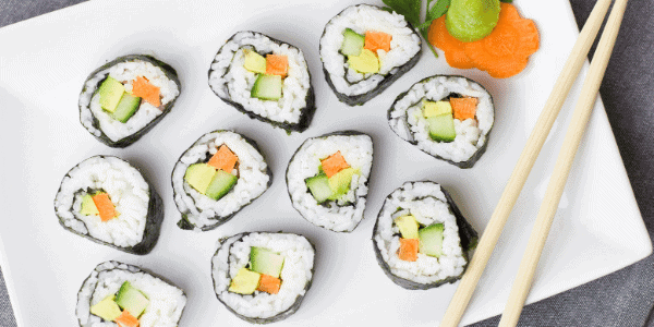 sushi carbohydrates