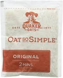 quick oat sachet