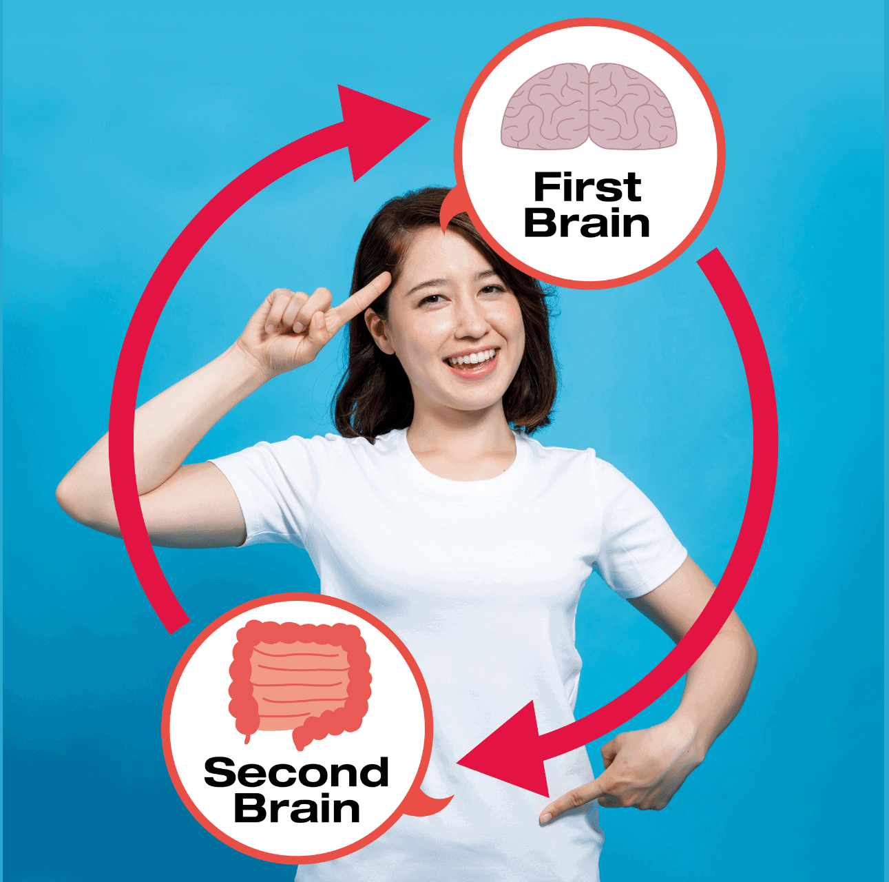 gut brain health woman