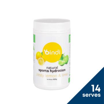 Bindi Natural Sports Hydration Lemon 420g