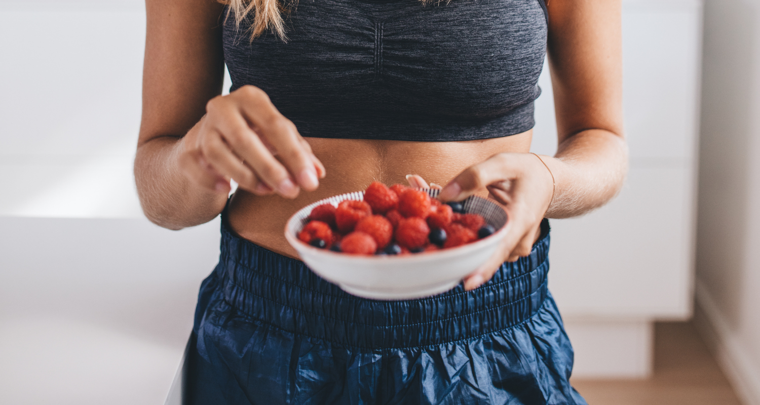 girl with mixed fruits in a bowl